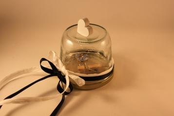 Geschirr-Ring Geschenkverpackung blau/weiß